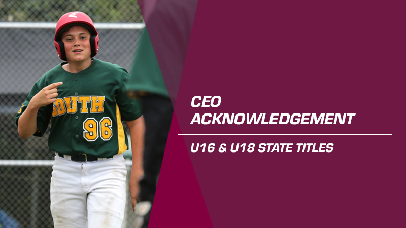 CEO Thank You – U16 and U18 State Titles