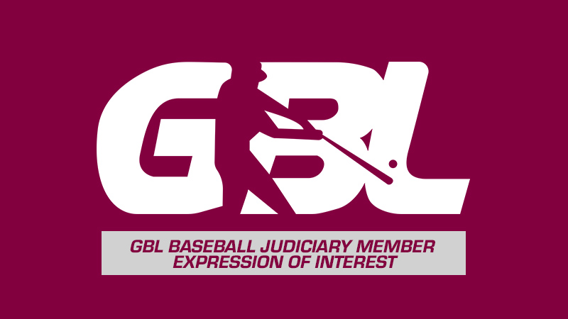 GBL Baseball Judiciary Member – Expression of interest