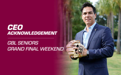 CEO Acknowledgement: GBL Seniors Grand Final Weekend