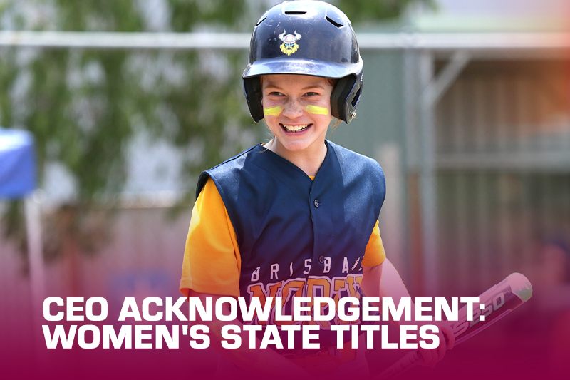 CEO Acknowledgement: Women's State Titles