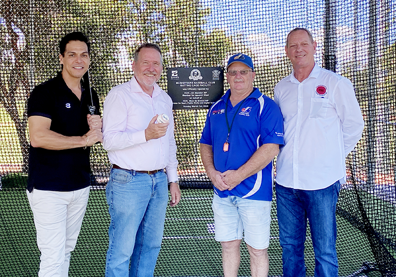 IPSWICH MUSKETEERS OPEN NEW BATTING CAGE FACILITY.