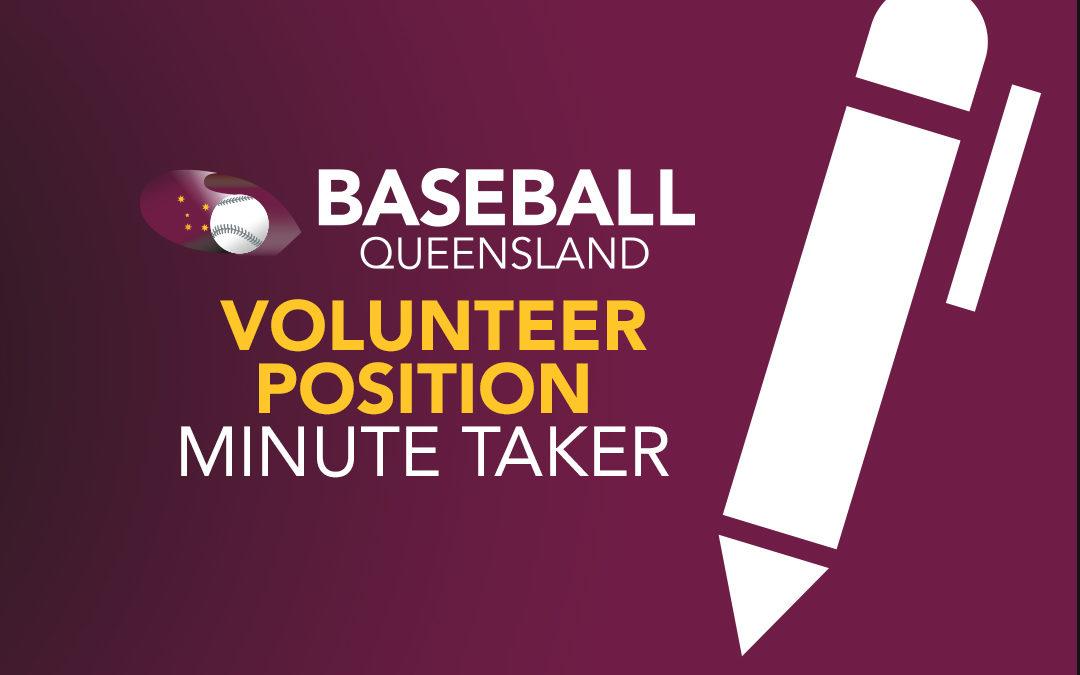 Volunteer Position: Minute Taker