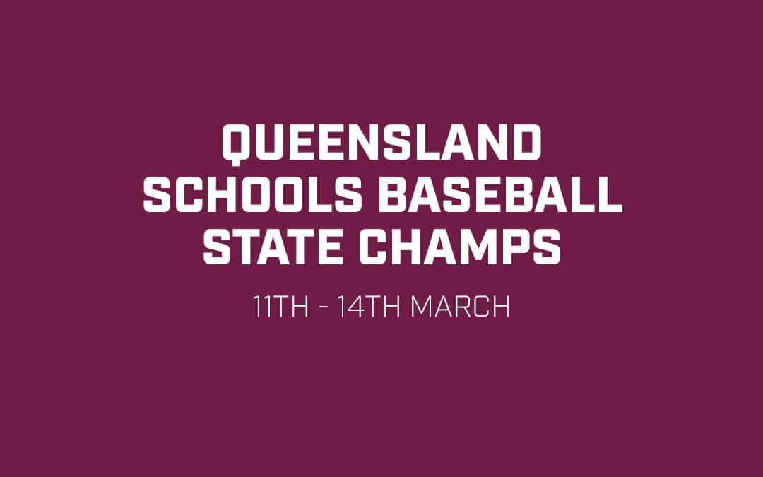 Queensland Schools Baseball State Champs in full swing